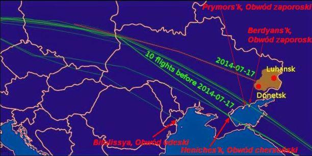 Trasy przed 17 July 2014